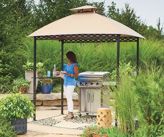 Wilson & Fisher Oakmont Domed Small Space/Grill Gazebo, (5' X 8') - Big Lots