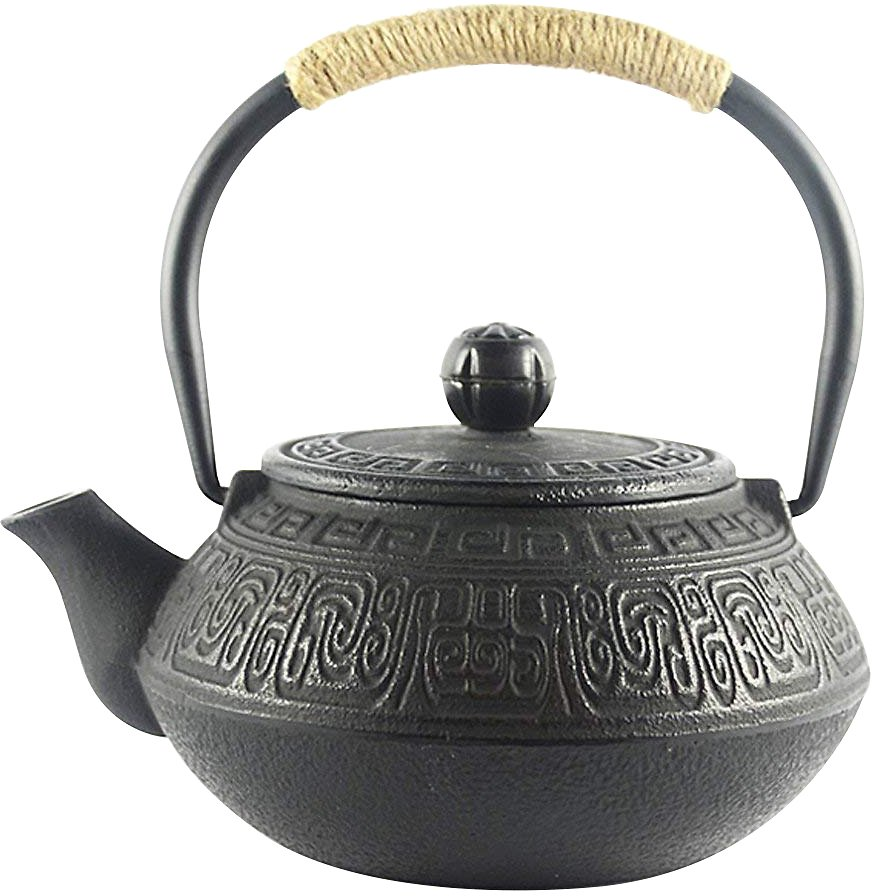 Hwagui - Best Japanese Cast Iron Teapot With Stainless Steel Tea Infuse 600ml/20oz