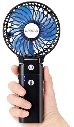 OPOLAR Handheld Battery-Operated Fan with 5200 MAh Powerbank