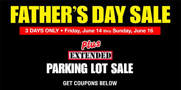 3-Day Father's Day Sale + Extra 20% Off - Harbor Freight Tools