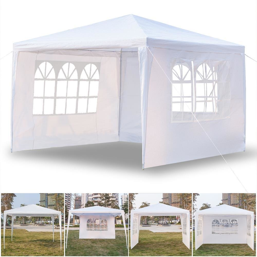(Ships Free) 10'x10' Canopy Party Wedding Tent Heavy Duty Gazebo Cater Events 3 Sides