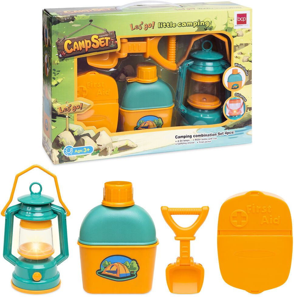 (Ships Free) BCP Kids Outdoor Camping Adventure Toy Kit w/ Bottle, Shovel, Lantern, First Aid