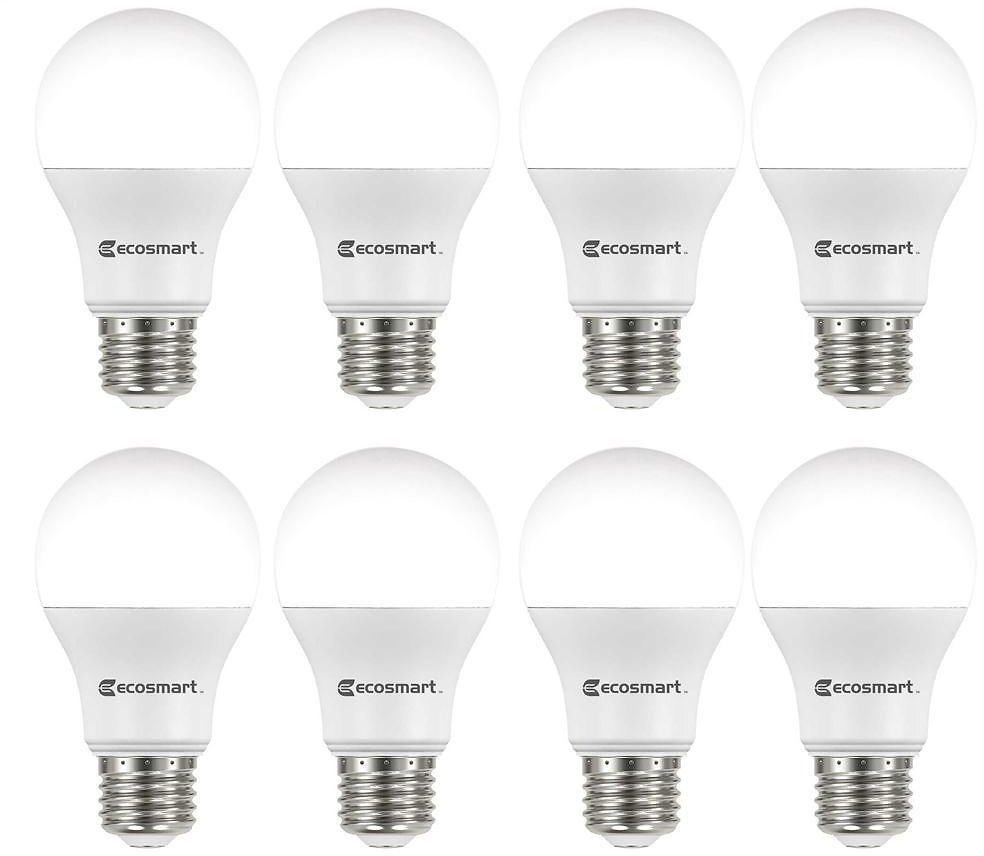 60-Watt Equivalent A19 Non-Dimmable LED Light Bulb Daylight (8-Pack)
