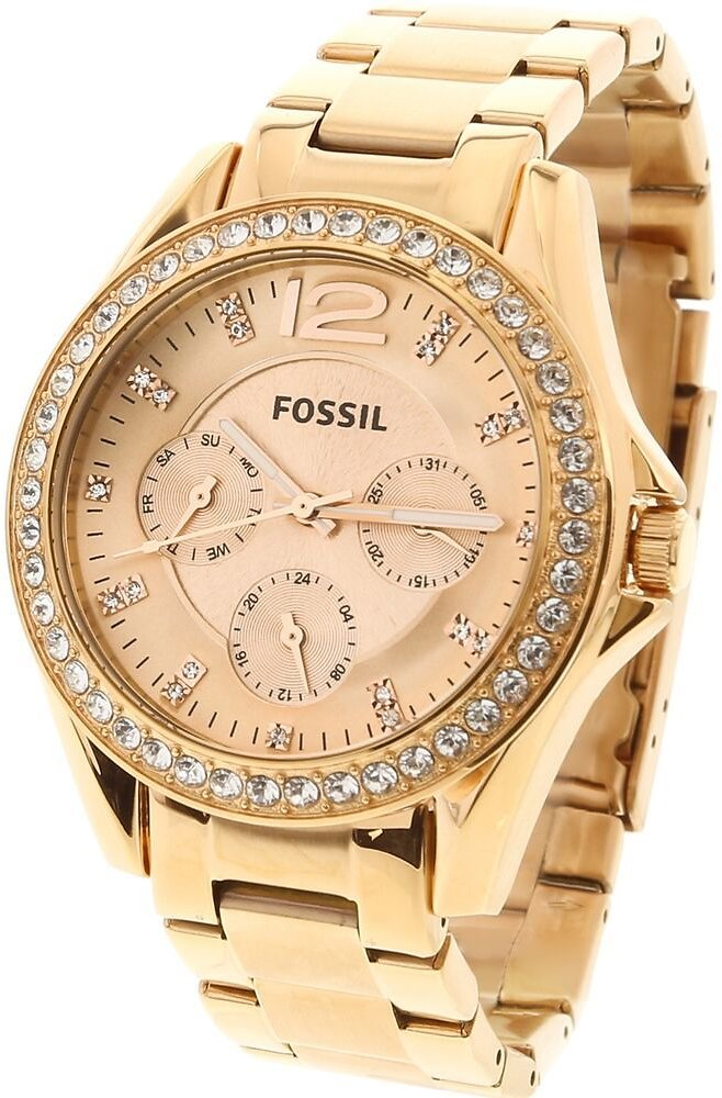 Fossil Women's Riley ES2811 Rose-Gold Stainless-Steel Analog Quartz Fashion W... 691464629922