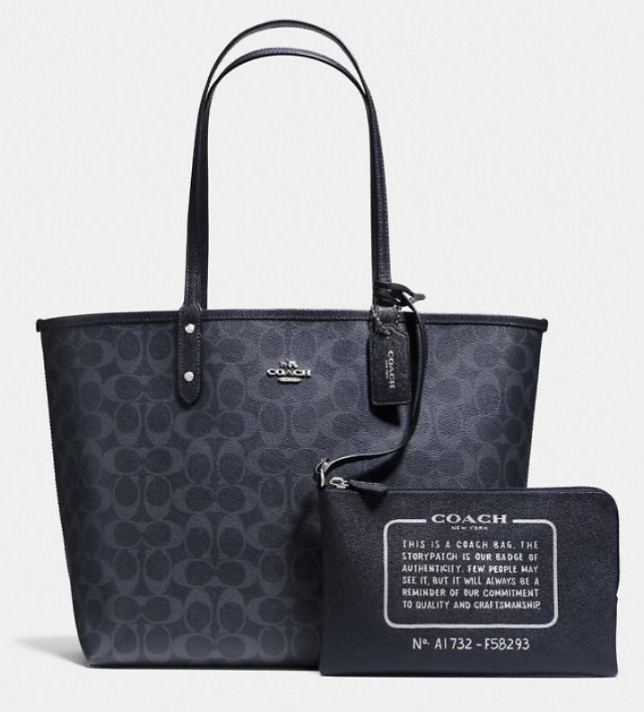Coach Reversible City Tote with Removable Pouch