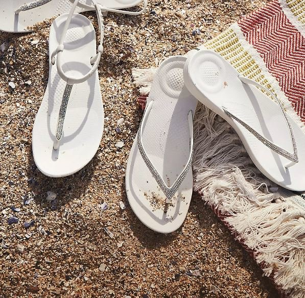 50% Off Flipflop + Free Shipping Women's STRETCHWEAVE Textile Slides
