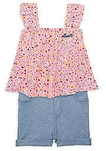 Levi's - Baby Girl's 2-Piece Floral Top & Shorts Set
