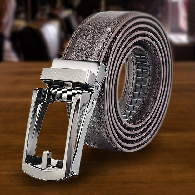 Men's Comfort Click Perfect Fit Leather Belt