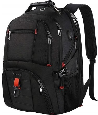 Matein Large Laptop Backpack, TSA Friendly Durable Computer Backpack with USB Port, Extra Big Fashion College School Bookbag