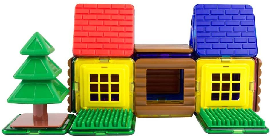 Magformers Log Cabin 48 Pieces Rainbow Colors