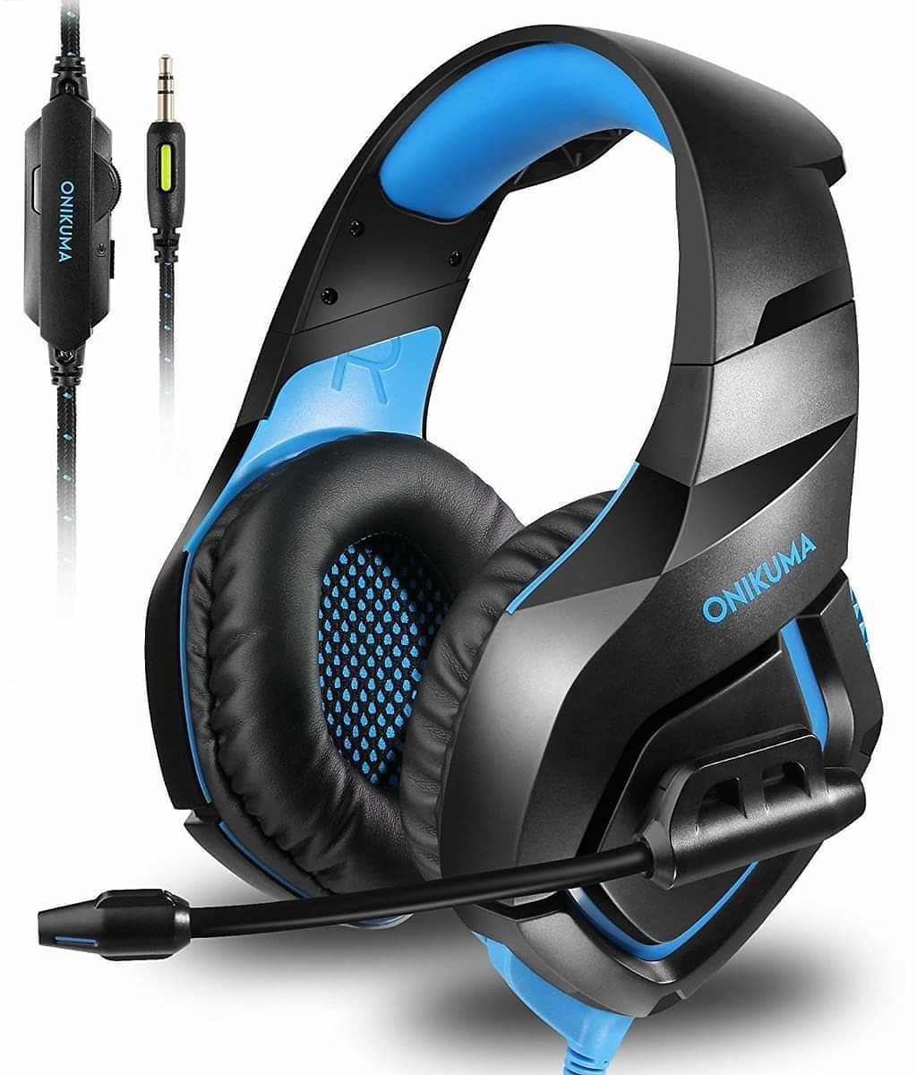 Gaming Headset for PS4 Xbox One, Gaming Headphones with Mic Stereo Surround Noise Reduction LED Lights