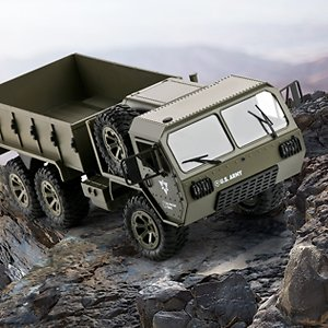 The Perseids RC Military Truck, 1:12 Scale 2.4G 6WD Heavy Off-Road Vehicle Remote Control Full Proportion Army Car Toy for Kids Over 14 Years Old & Adults: Toys & Games