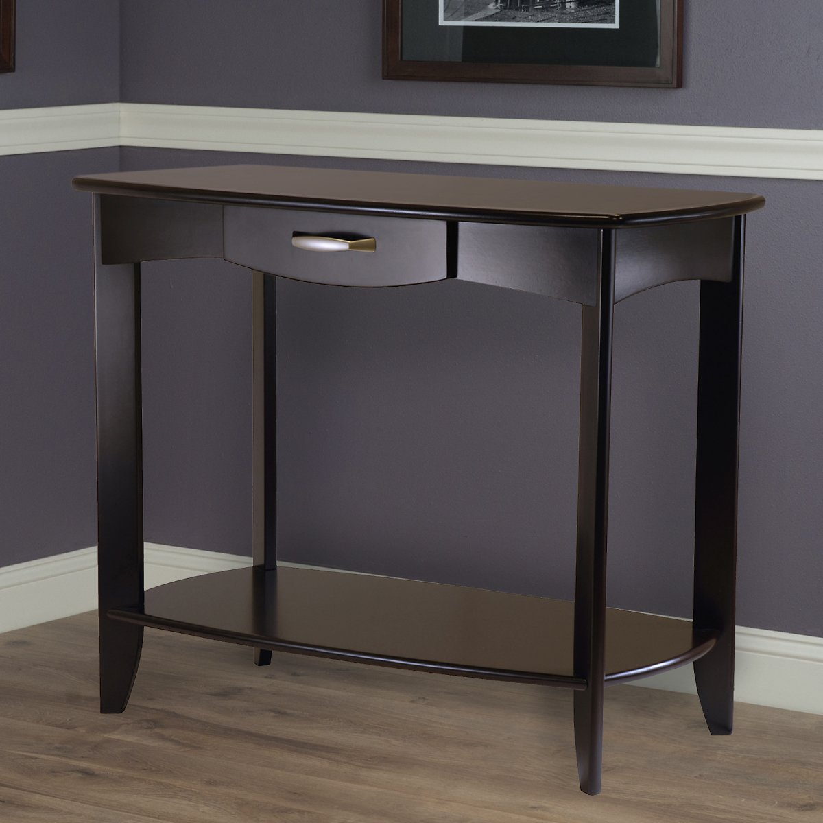 Winsome Wood Danica Console Table with Drawer, Espresso Finish