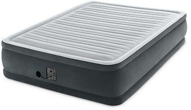Intex Dura Beam Plus Series Elevated Mattress Airbed with Built-In Pump, Queen