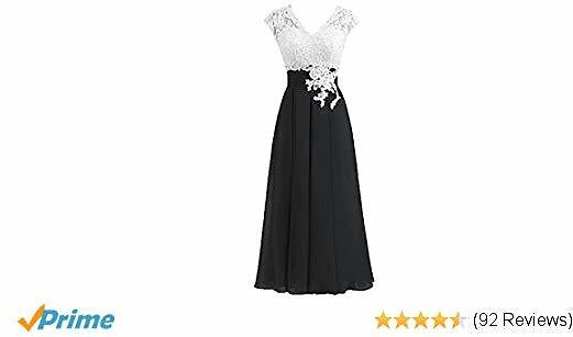 Women's Ivory Lace Top Chiffon Button V-Neck Bridesmaid Dresses with Cap Sleeves Mother of The Bride Dresses