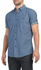 Logan Garment Wash Short Sleeve Shirt - Button Downs - T.J.Maxx