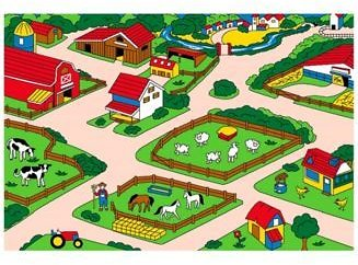 Sunshine Mount Farm Fun Children Area Rug & Reviews - Furniture
