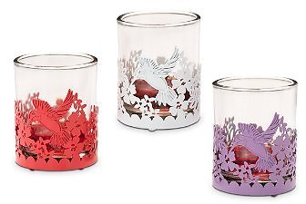 Hummingbird Blooms Votive Holder Trio