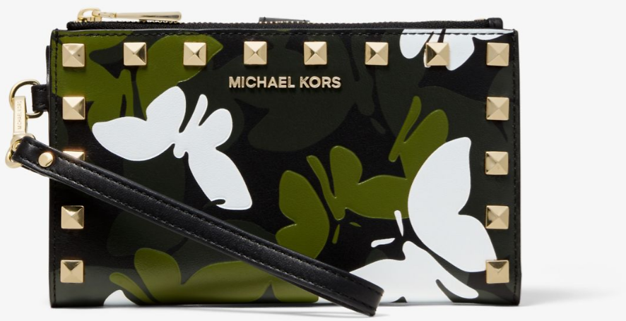 Michael Kors Adele Butterfly Camo Leather Smartphone Wallet | 2 Colors
