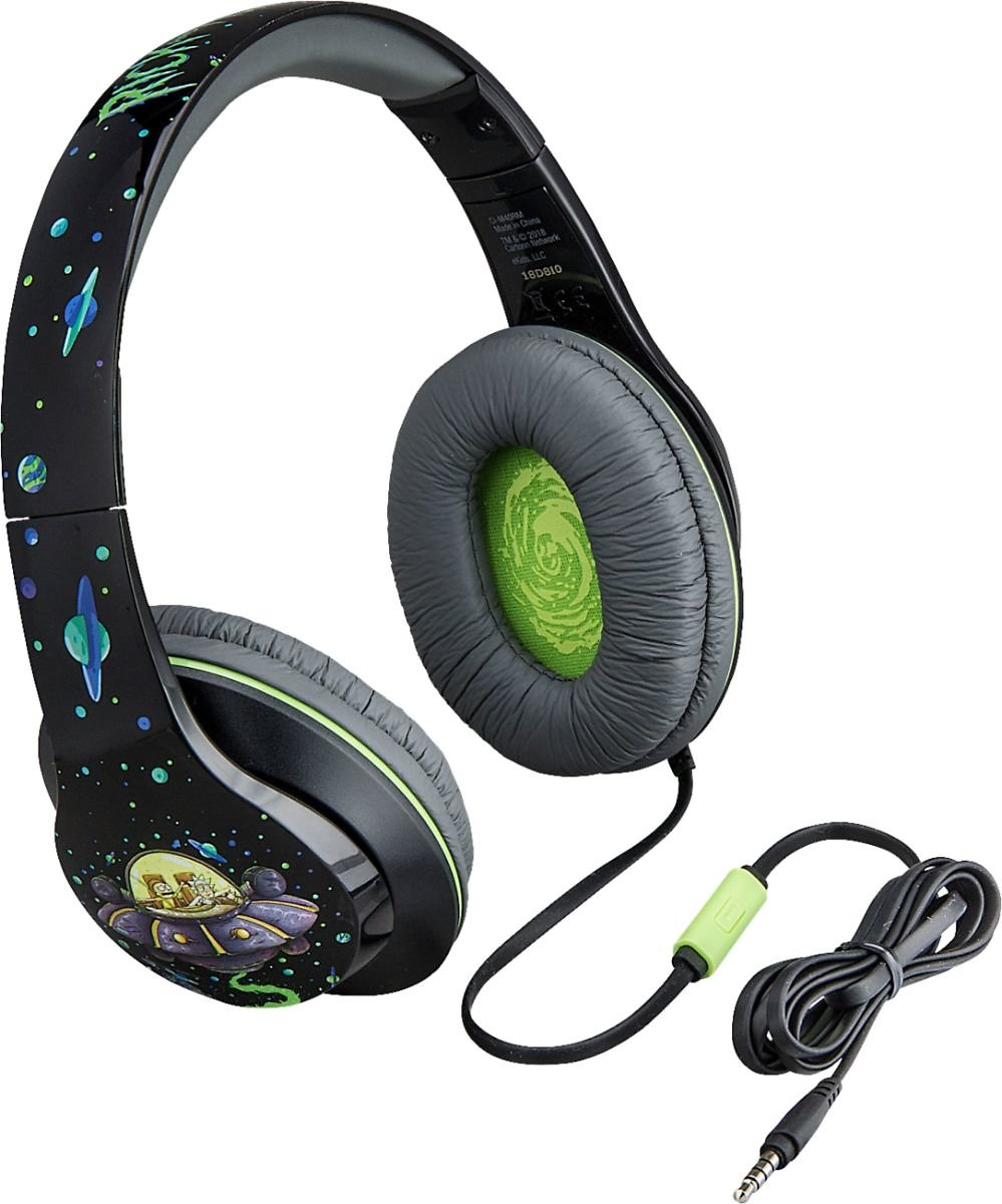 IHome Rick and Morty Wired Over-the-Ear Headphones Green/Black CI-M40RM.FXV8
