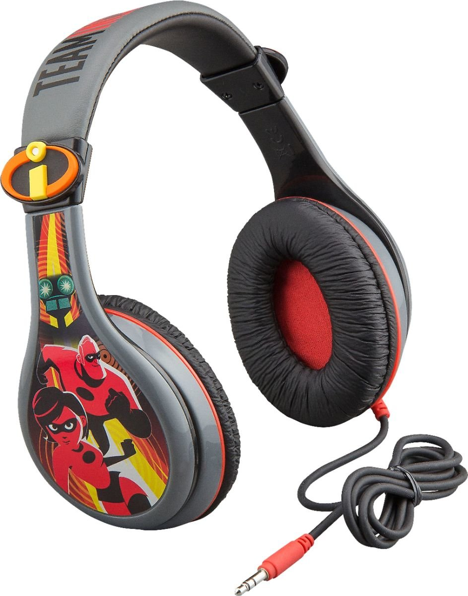 Incredibles 2 Wired Over-the-Ear Headphones Black IC-140.EXV8M
