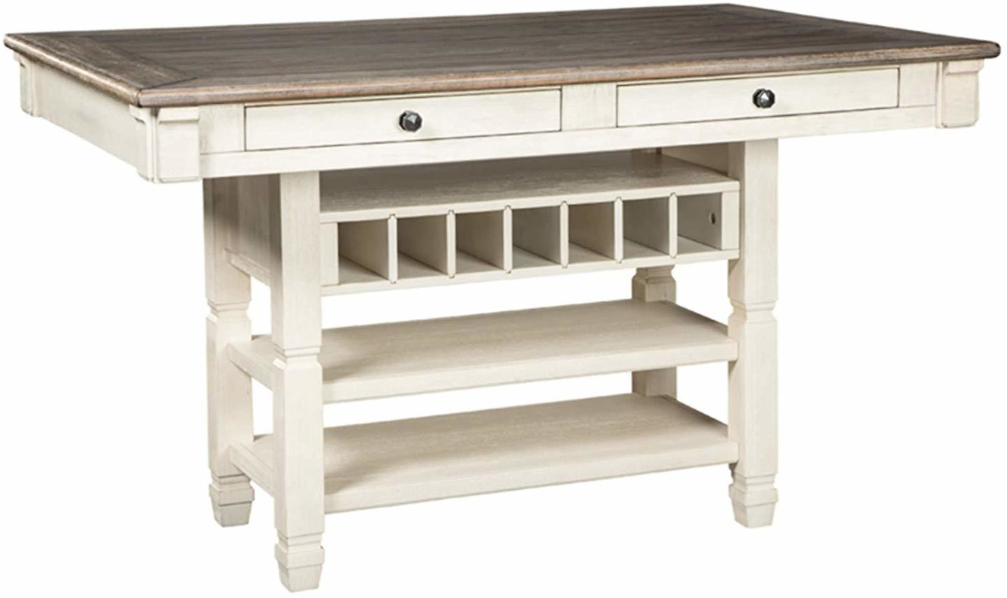 Ashley Furniture Signature Design Bolanburg Counter Height Dining Room Table, Antique White