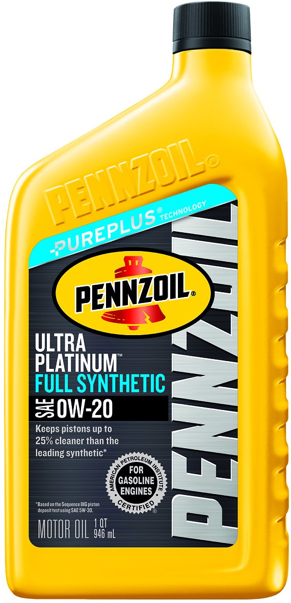 Pennzoil Ultra Platinum 0W-20 Full Synthetic Motor Oil , 1 Qt