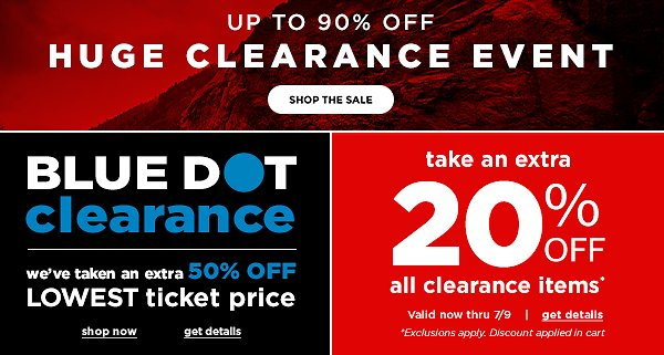 Up To 90% Off Clearance + Extra 20%-50% Off | EMS