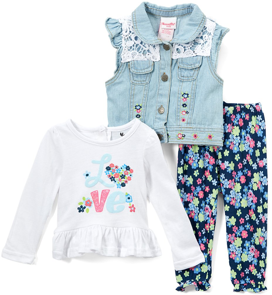 Love This Product White 'Love' Ruffle Vest Set - Infant & Toddler
