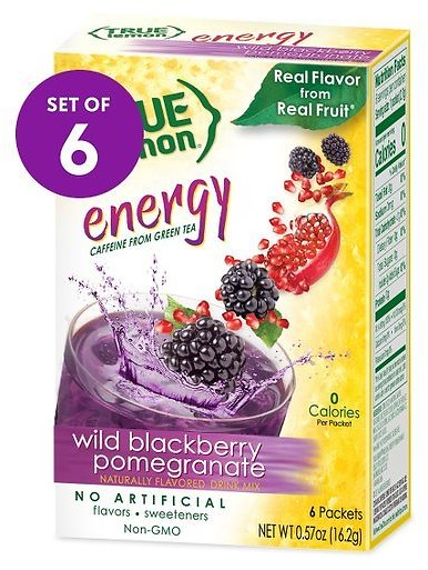 Blackberry Pomegranate Energy Drink Mix - 6 Boxes of 6 Packets