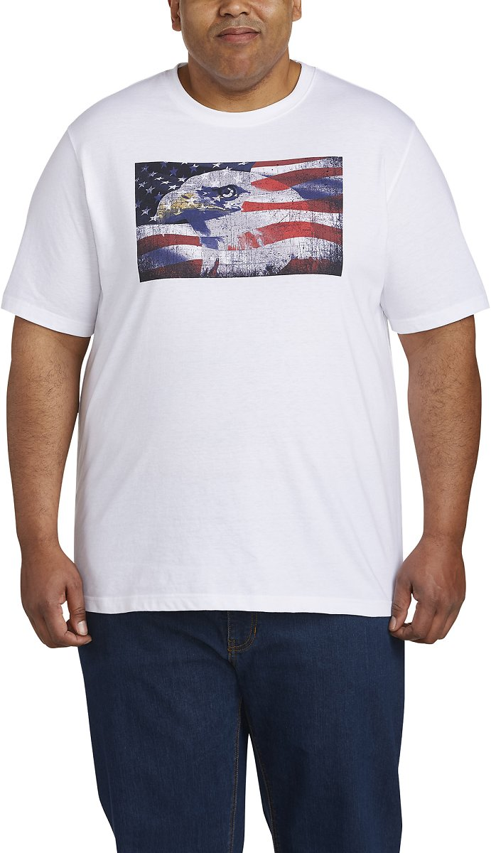 Canyon Ridge - Men's Short Sleeve Flag with Eagle Graphic Tee
