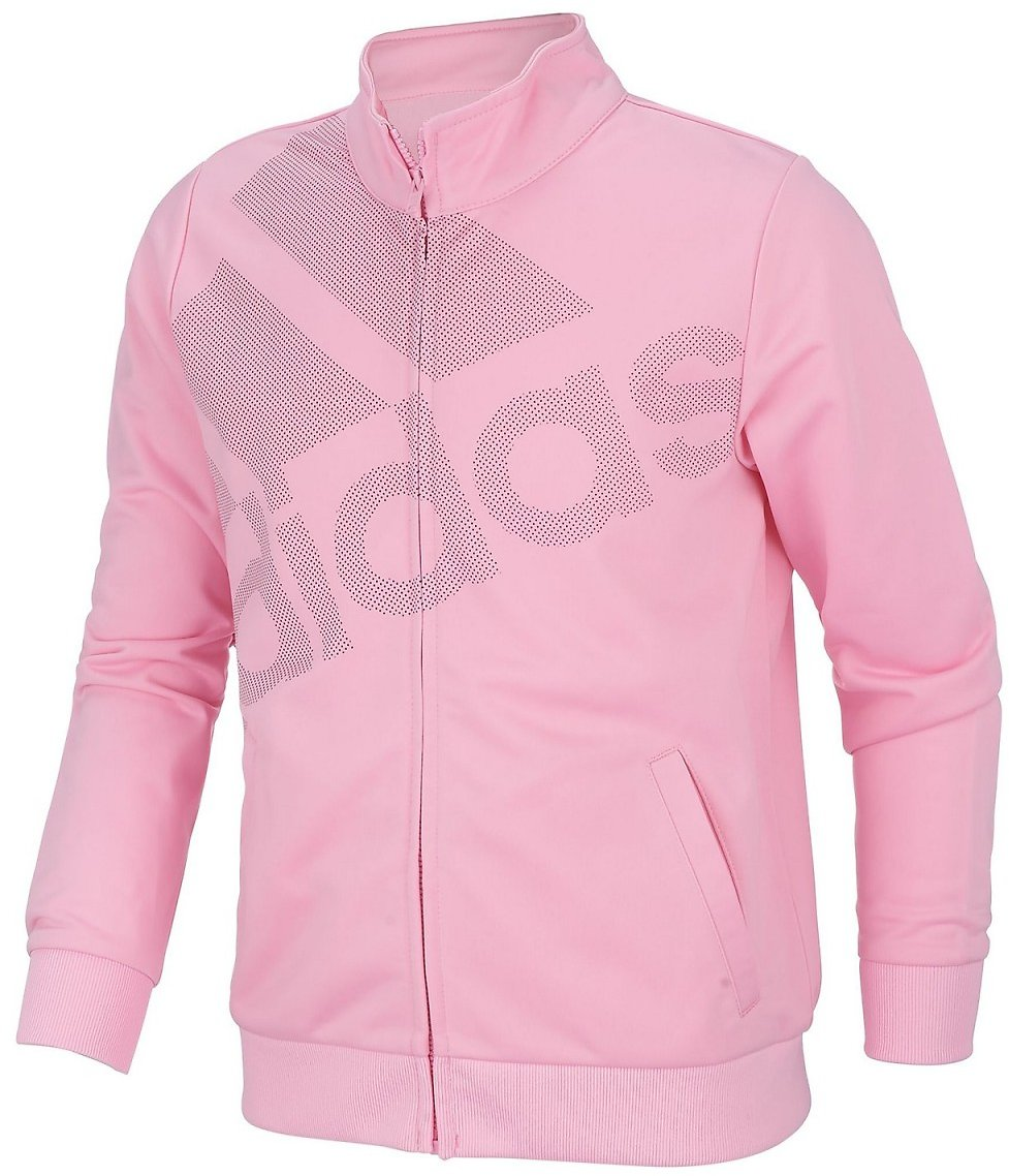 Adidas Big Girls Tricot Logo Track Jacket