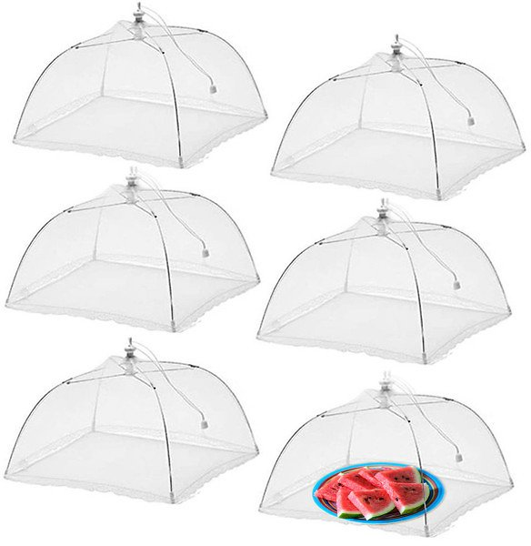 "6pk Pop-Up 17x17"" Large Outdoor Food Covers - Keep Bugs Out"
