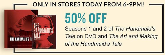 In-Store Only! 50% Off The Handmaid's Tale