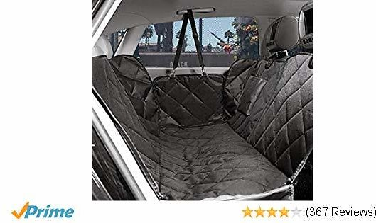 KQRNS Upgraded 100% Waterproof Pet Seat Cover Car Seat Cover for Dogs Seat Cover Hammock Heavy Duty Scratch Proof Nonslip Durable Soft Dog Back Seat Covers for Cars Trucks and SUVs