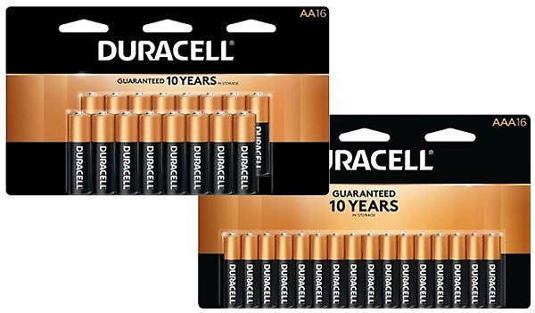 Last Day! Free Duracell 16-Pack Batteries