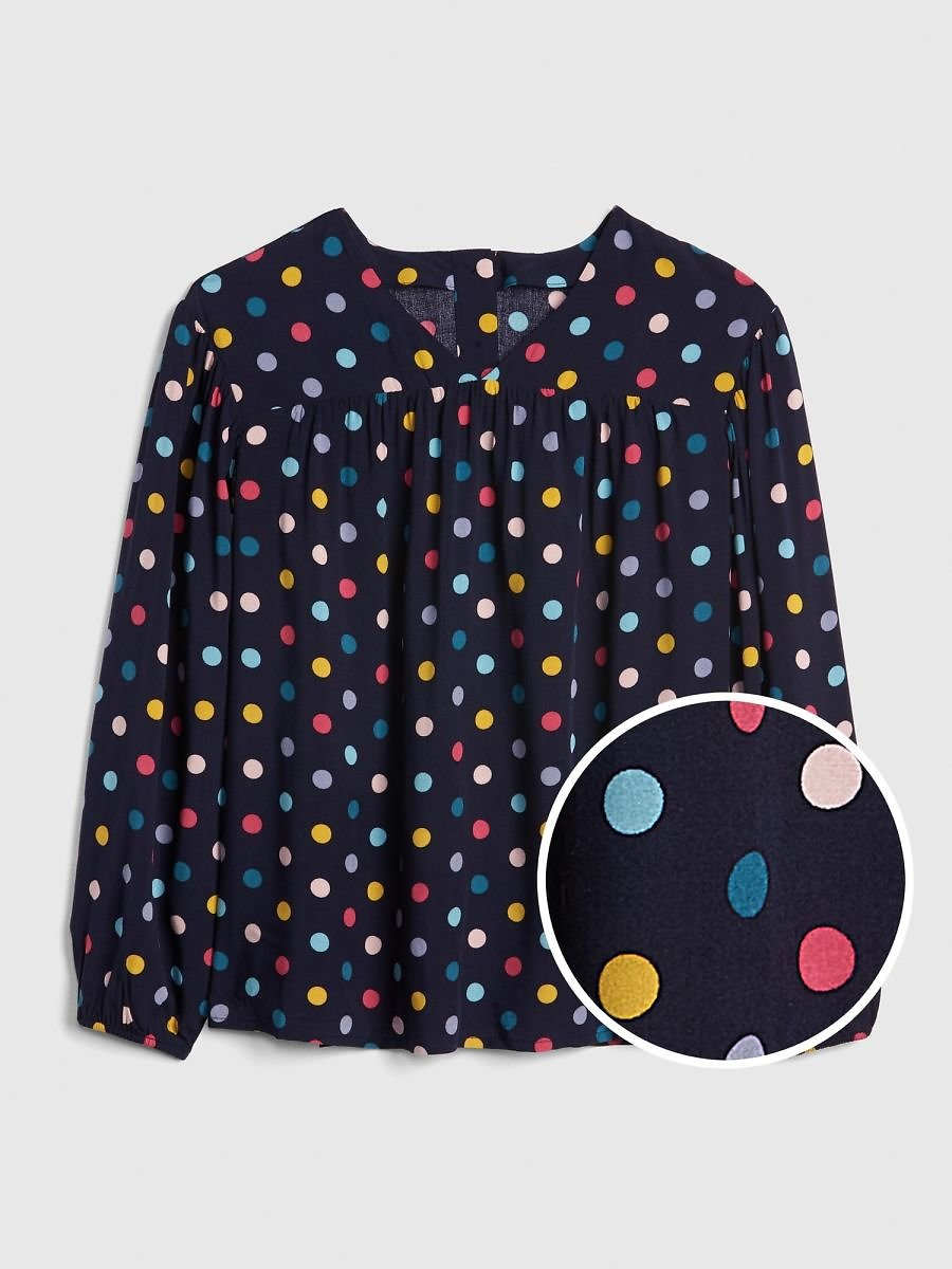 GAP Girls' Print V-Neck Top