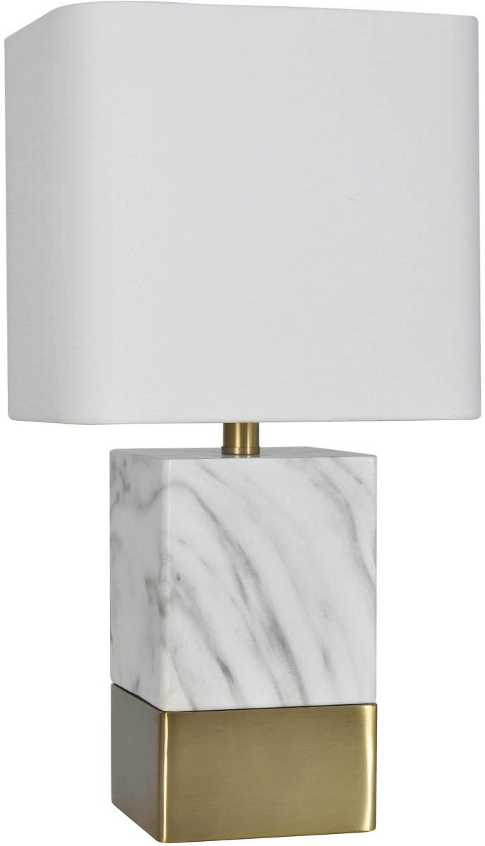 Better Homes and Gardens Gray and White Faux Marble Table Lamp