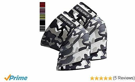 Zealspot Knee Wraps(Pair) Compression & Elastic Support for Cross Training,WODs,Gym, Workout,Weightlifting,Fitness & Powerlifting - Best Knee Straps for Squats -for Men & Women- 72