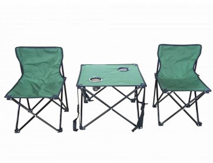 Folding Outdoor Table with Chairs Set
