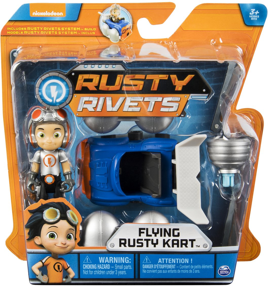 Rusty Rivets – Flying Rusty Kart Build with Rusty Figure, for Ages 3 and Up
