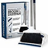Camco Adjustable Broom and Dustpan, Gets In Small Spaces and Corners, Telescoping Broom Handle Adjusts From 24 Inches to 52 Inches, Ideal for RV, Marine, And Home Use (43623): Automotive