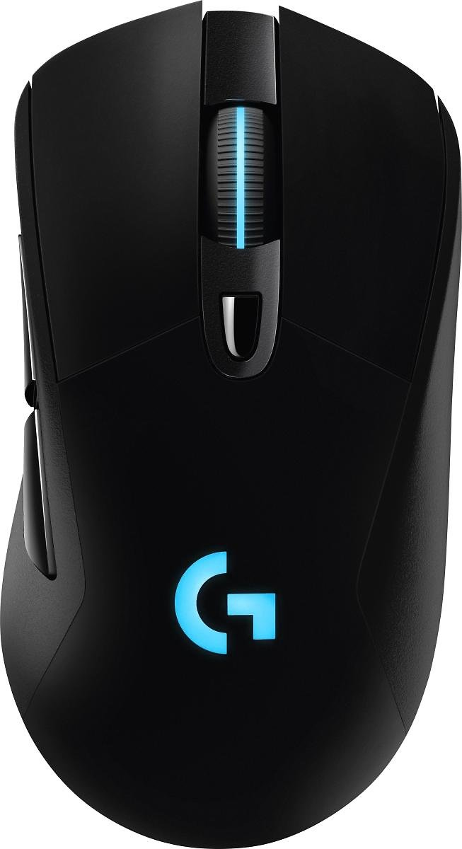 Logitech G703 Wireless Optical Gaming Mouse with RGB Lighting Black 910-005091