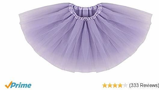 Extra 46% Off Baby Girl's Classic Layers Tulle Tutu Skirt (6 Months to 8 Years)