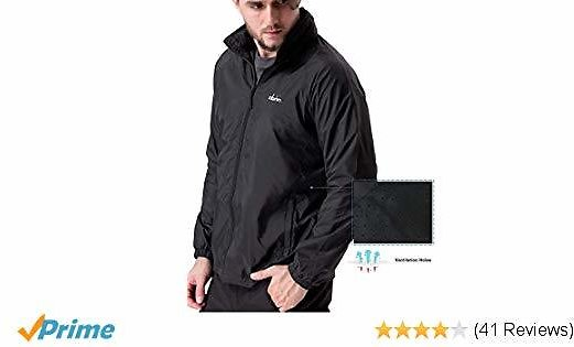 Clothin Men's Lightweight Jogging Jacket for Outdoor Exercise Sport Golf Outerwear