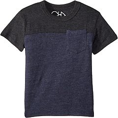 Chaser Kids Extra Soft Two-Toned Pocket Tee (Toddler/Little Kids)
