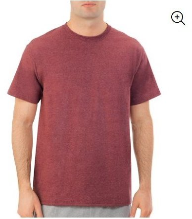 Fruit of The Loom - Men's Dual Defense UPF Crew T Shirt, Available Up to Sizes 4X