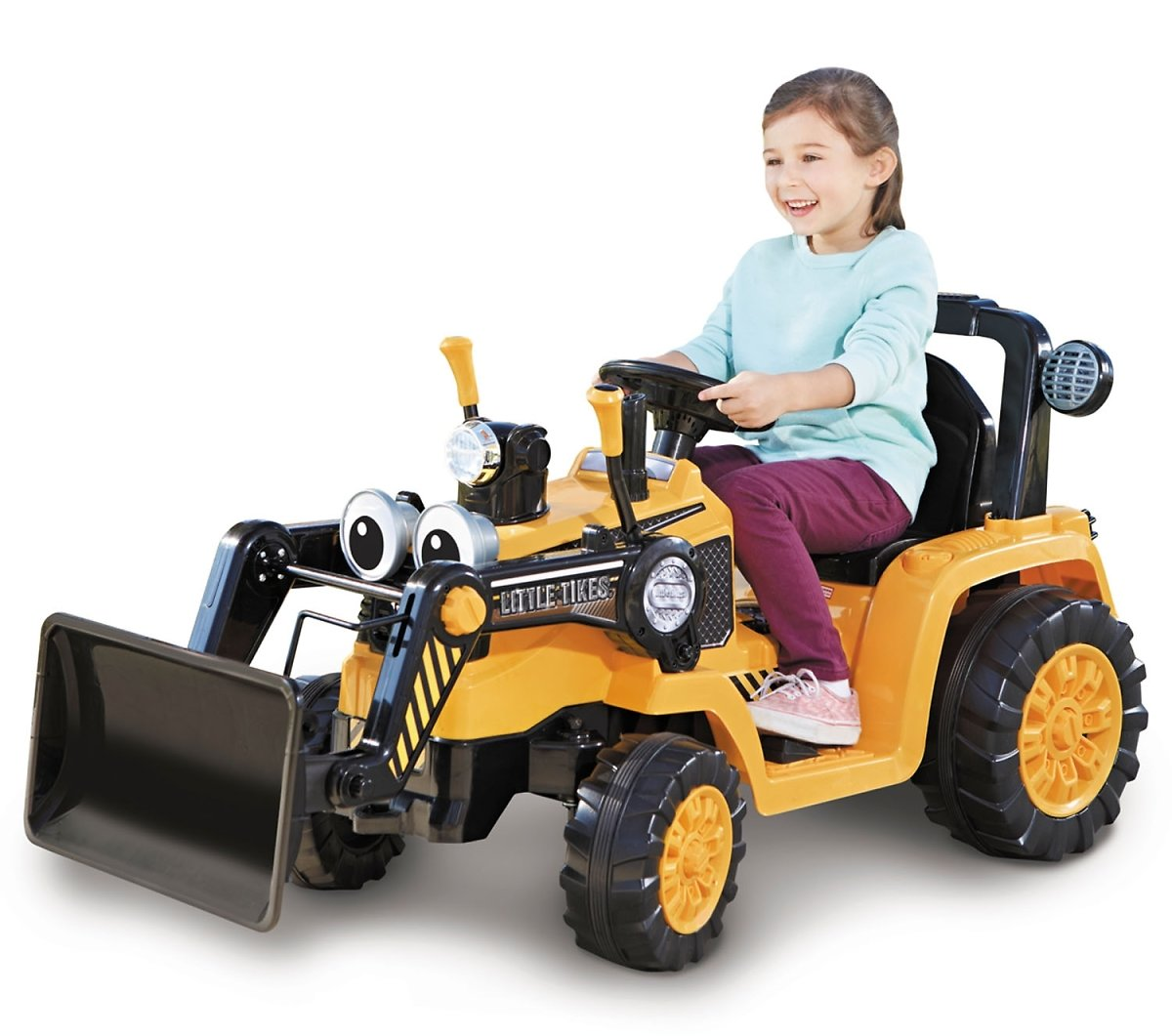 Little Tikes Cozy Dirt Digger Electric 12V Battery Ride On Toy with Digger