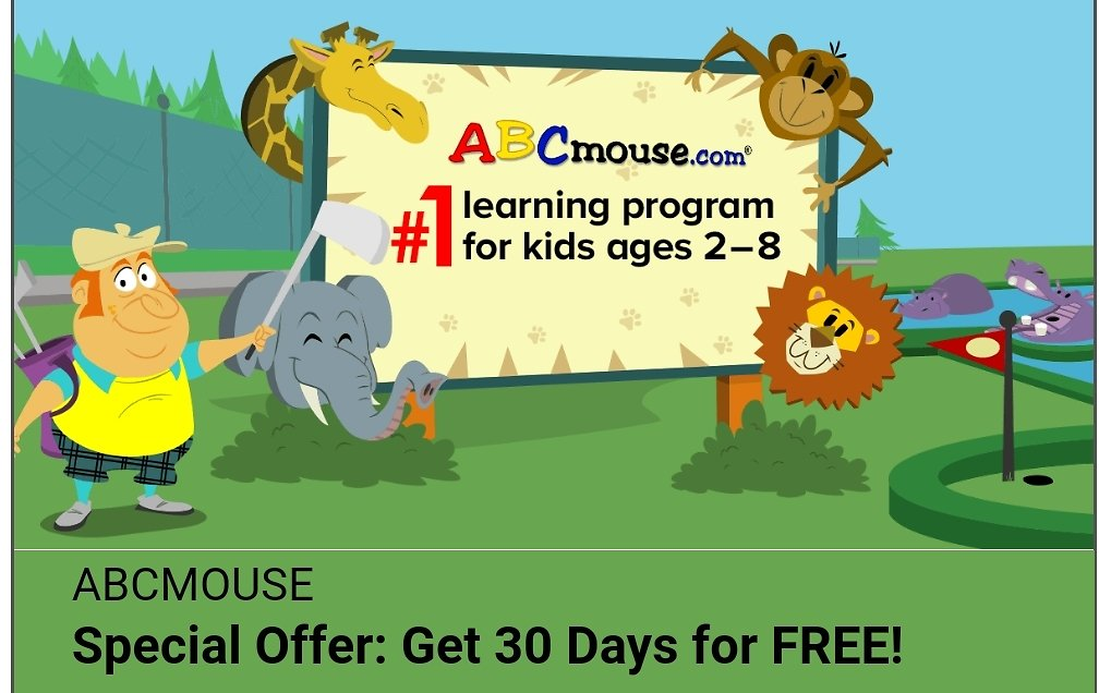 Special Offer Get 30 Days for Free ABCmouse.com