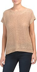 Dolman Mixed Stitch Pullover Sweater (2 Colors)